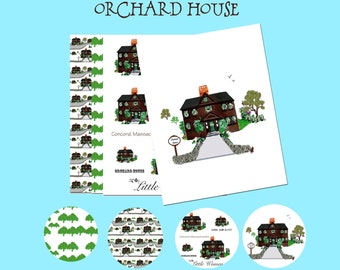 "Orchard House, digital papers 8.5 x 11"" JPEG files 300 DPI"