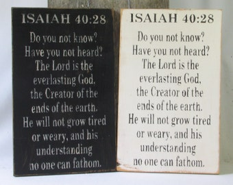 Isaiah 40:28 Do You Not Know Wooden Sign, Do You Not Know Distressed Sign, Do You Not Know Rustic Sign, Do You Not Know Home Decor