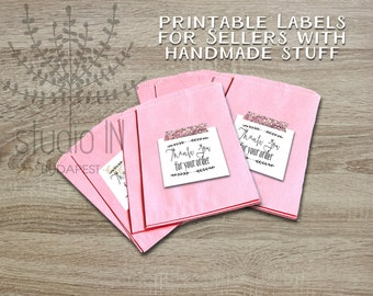 Printable thank you tags, customer gift tags, printable tags, Etsy seller handmade tag, Etsy seller thank you for your order tag,
