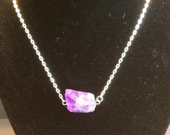 Amethyst 7 Grandfather's Teaching--Humility Necklace