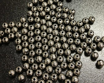 Black Oxide 4mm Round Bead