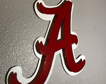 Captivating Alabama Logo, Bama, Crimson Tide, Roll Tide, Metal Art, Metal Wall