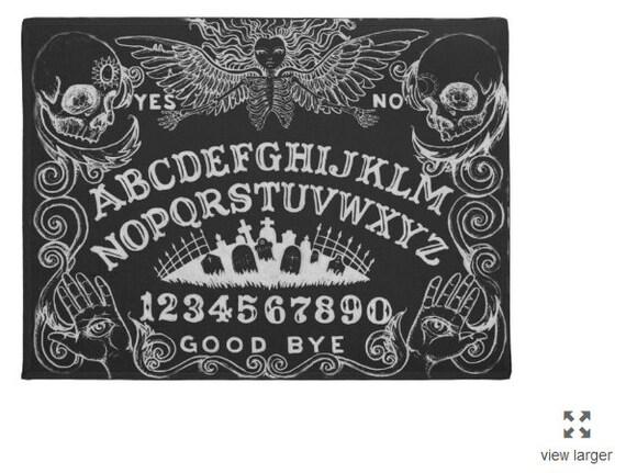 Ouija Board Area Rug In Black