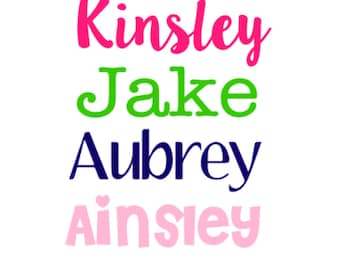 Personalized Name Decal Sticker, Water bottle Sticker, Waterbottle Decal, Trunk Decal, Birthday Party Favor Supplies, Cup Name, School label
