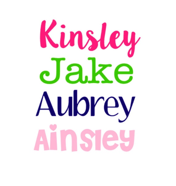 Name decal name stickers personalized decal stickers kids