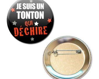 Badge 56 mm - I'm an uncle that tears families Uncle parent child gift