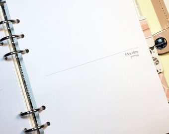 A5 Planner Inserts - WO4P - week over 4 pages - dated or undated - printed, cut and punched -  #planmyway