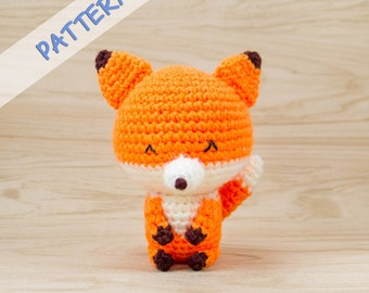 Fox Crochet Pattern - Amigurumi Fox Pattern - Stuffed Animal Pattern - Amigurumi Animal Pattern - Fox Plush Pattern - Crochet Animal Pattern