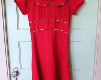 Red Vintage Dress, Red Dress, Vintage Dress, Girls, Collar, 90s, Red, Girls Dress, Short Sleeve