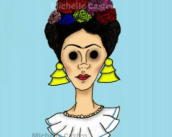 "8.5x11in ""Frida"" Prints by Michelle Castro"