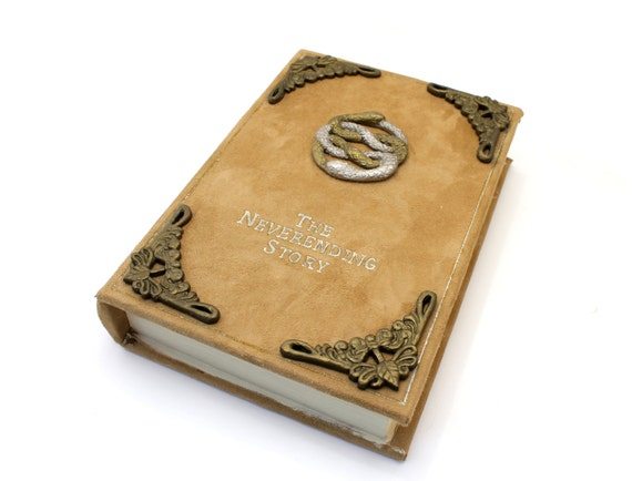 Handmade Story Book Cover : Items similar to the neverending story book jewelry box