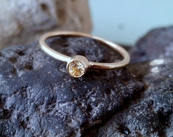 SALE! Yellow ring, citrine ring, november birthstone ring, gold ring, cute ring, wedding gift, bridal jewelry