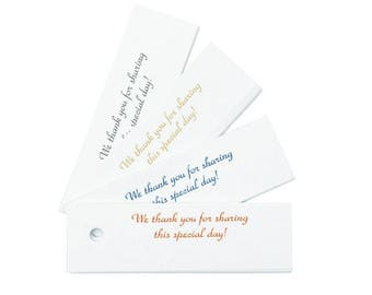 Wedding Favor Tags - Royal Blue White Thank You For Sharing Our Special Day - Set of 25 - MW10545