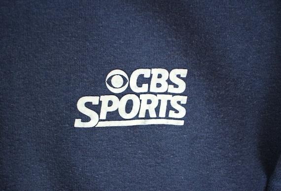 Vintage 70s CBS Sports crew neck sweatshirt Size L K-Brand TV Fpa8tISWI
