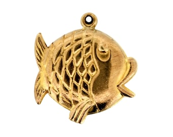 Vintage Gold Charm - 9ct Gold Fish Charm