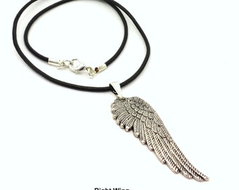Angel Wing Necklace Set of 2/ Made to order/ Best Friend Gifts/ Couples Gift Idea/ Choice of Cords/ Customizable/ Love & Friendship