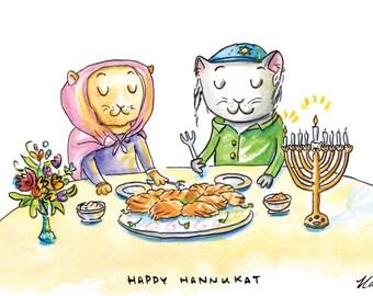 Happy Hannukat Card