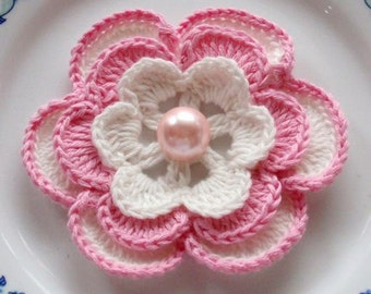 Larger Crochet Flower in 3 inches YH - 027-02