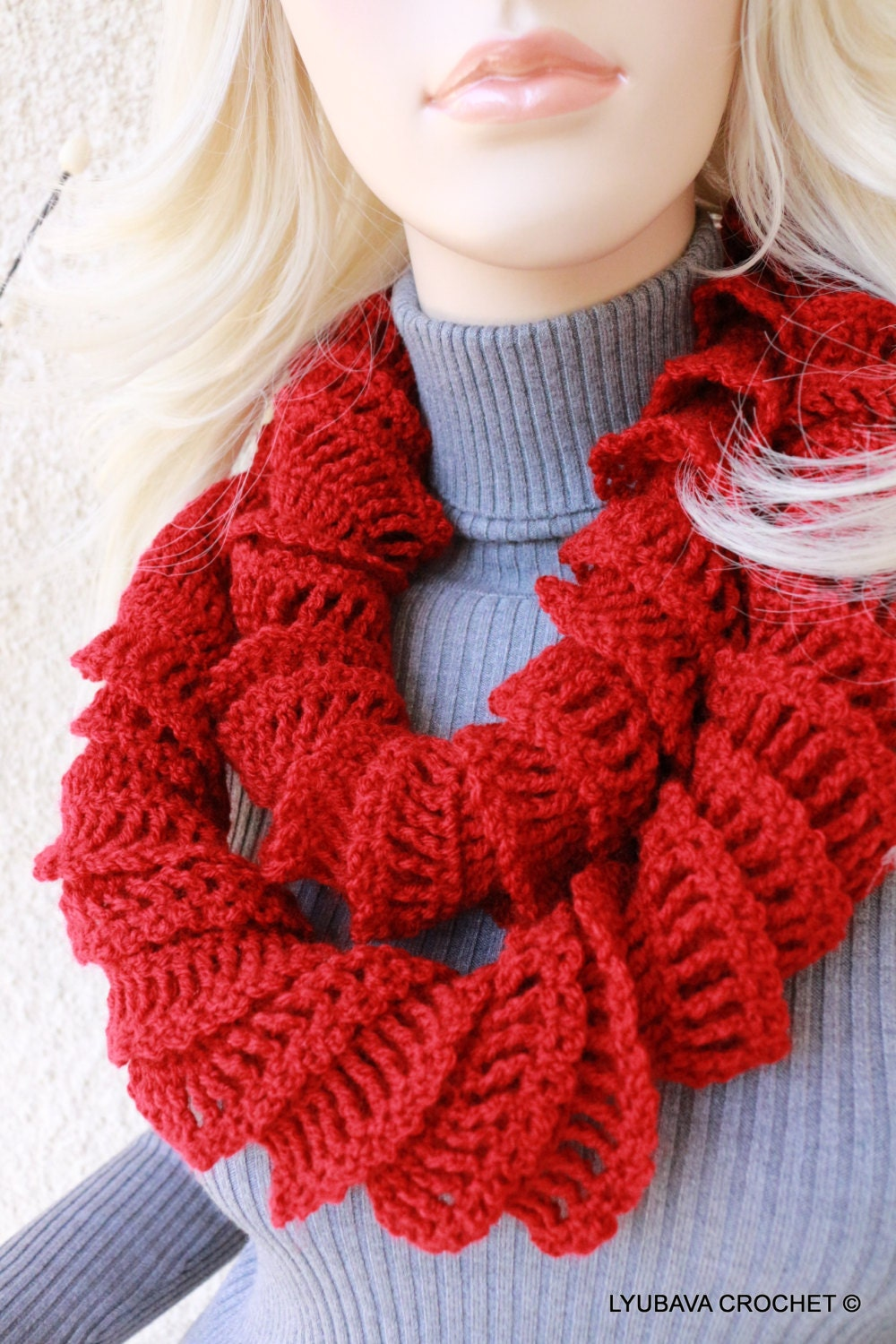 Crochet scarf pattern ruffle scarf pattern unique crochet scarf this is a digital file dt1010fo