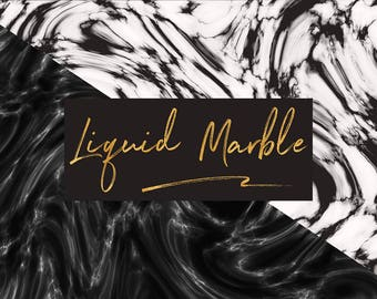 Liquid Marble Digital Paper, Black And White Liquid Marble Backgrounds, Marble Texture, Liquid Textures {Coupon Code: BUY5FOR8}