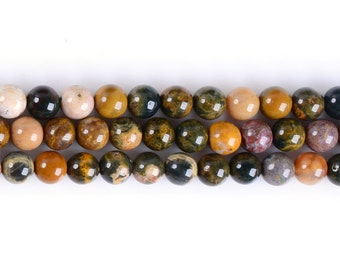 6MM320 Ocean Agate round ball loose gemstone beads 16""