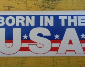 Vintage Born in the USA bumper sticker