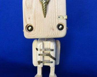 Recycled wooden robot - egyptian style