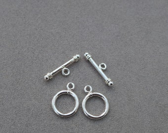 2 Set 925 Sterling Silver 14.5mm Toggle Clasp Wholesale price