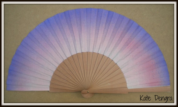 Pink and Purple Hand Fan