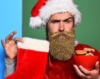 Single Christmas Glitter Beard Kit Beard Glitter Organic by Beard Basic Beard Baubles Beardaments Beard Bling Beard Art Beard Ornaments