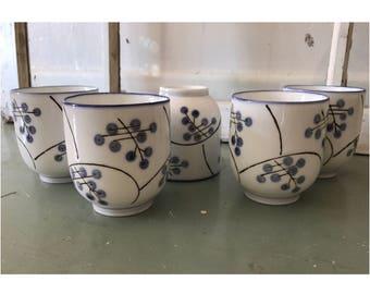 Bamboo Tea Cups (Set of 5)