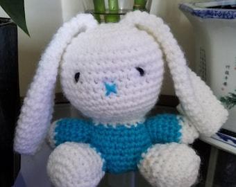 Cute Crocheted Amigurumi Rabbit