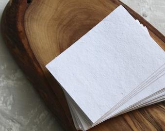 "2.5x3.5"" Handmade Cotton Rag Paper (25)"