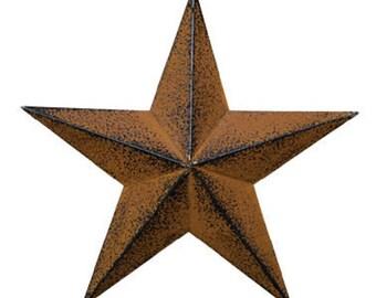 """Rust Black 12"""" Barn Star"""