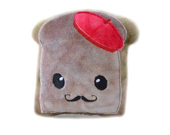 French Toast Plush | Kawaii Plush | Kawaii Bread Plush | Stuffed Toy | Nerd Gift | Pun Plush | Gifts for Him | Gifts for Her | French Toast