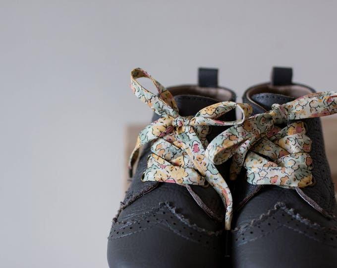 LIBERTY PRINT SHOELACES in adult and children's sizes -  Claire Aude D