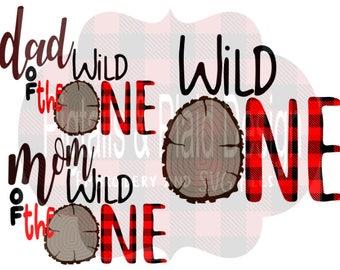 3 FILE BUNDLE--Wild One birthday Cut File, lumberjack 1st birthday svg, svg png dxf, plaid svg files, lumberjack birthday, plaid one svg