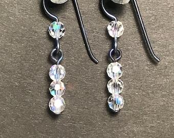 Swarovski Crystal and Niobium Earrings