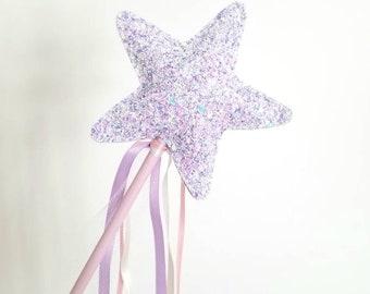 "The ""Lilac Sparkle"" Glitter Fairy Wand"