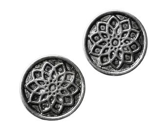 7th Center Sahasrara Chakra Lotus Flower Cufflinks