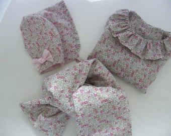 Set LIBERTY Eloise pink crush Blouse wrap 3/6/12/18 months