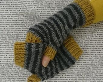 Funky Striped Fingerless Gloves