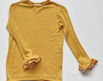 SAMPLE SALE -  Reese t-shirt in mustard - size 3/4