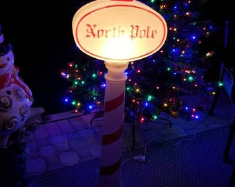 Christmas blow mold north pole vintage blow mold