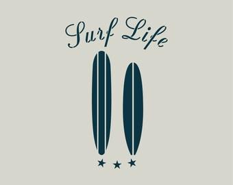 Surfing stencil. Stencil surfboard (ref 693)