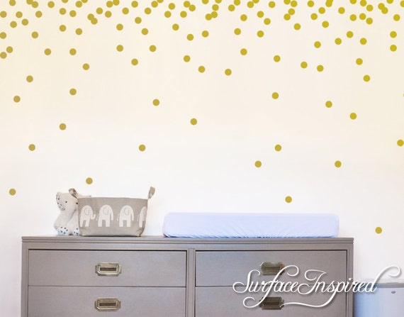 Wall Decals Gold Polka Dots Nursery And Home Wall Decal Decor - Wall decals gold