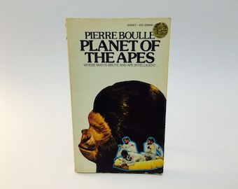 Vintage Sci Fi Book Planet of the Apes by Pierre Boulle 1964 Movie Tie-In Edition Paperback