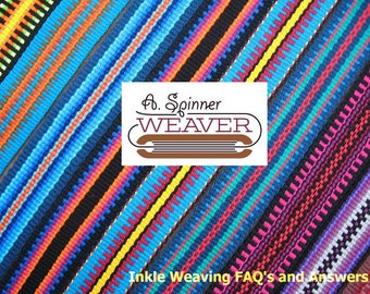 Inkle Weaving FAQ's and Answers, PDF, Digital Document