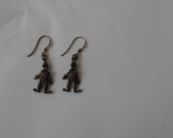 vintage clown earrings