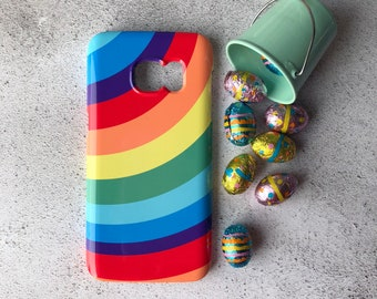 Rainbow Samsung Galaxy S7 case, Bright samsung Galaxy S6 case, Samsung Galaxy S6 Edge, Galaxy S5, iPhone X, iPhone 8, iPhone 7, iPhone 6s, 6